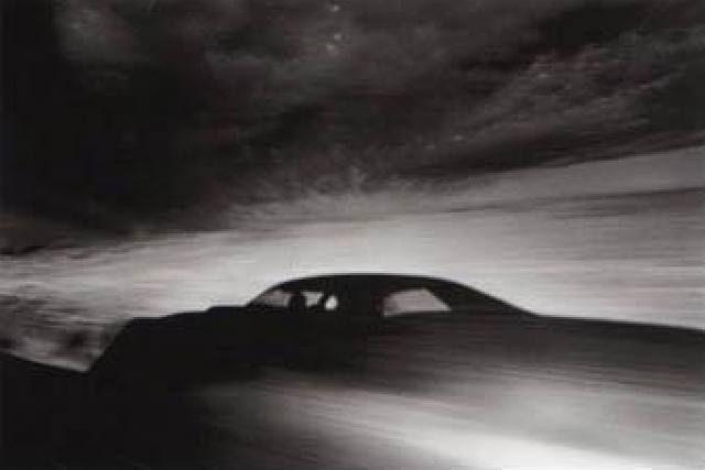 Ikko Narahara, Shadow of car driving through desert, Arizona