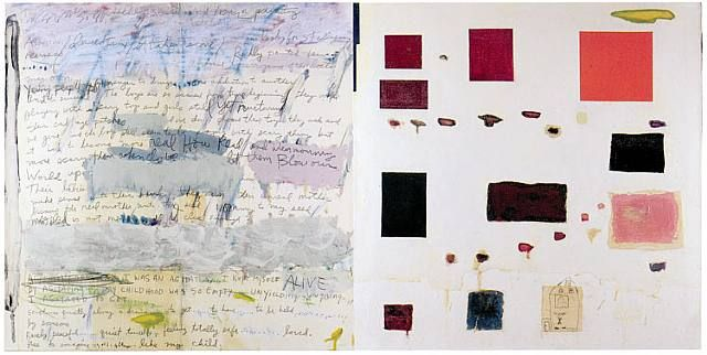 Joan Snyder, FREE TO IMAGINE / LIKE MY CHILD (diptych)