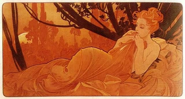 Alphonse Mucha is the artist...