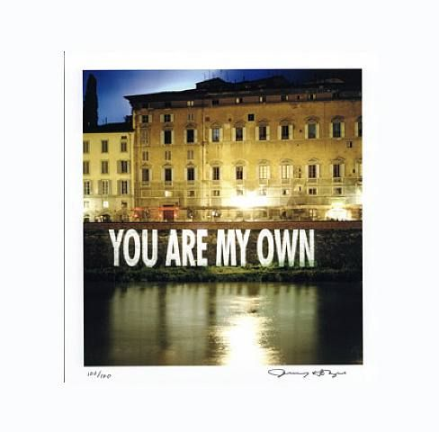 Jenny Holzer, You Are My Own