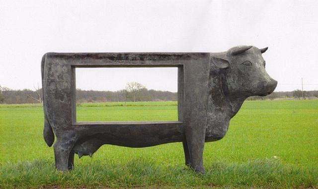 Vache Paysage,  François-Xavier Lalanne. 2006