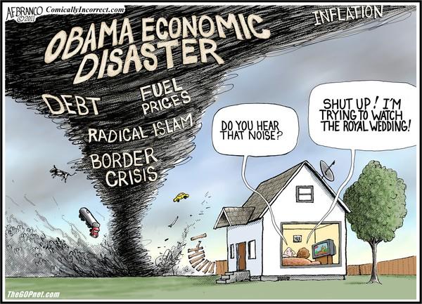Image result for cartoons master of disaster obama