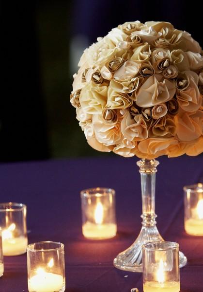 Paper Flowers Wedding Centerpiece By Nichole Sypher