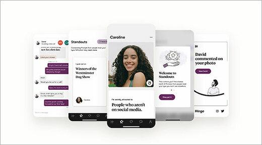 Hinge dating app open on smartphones