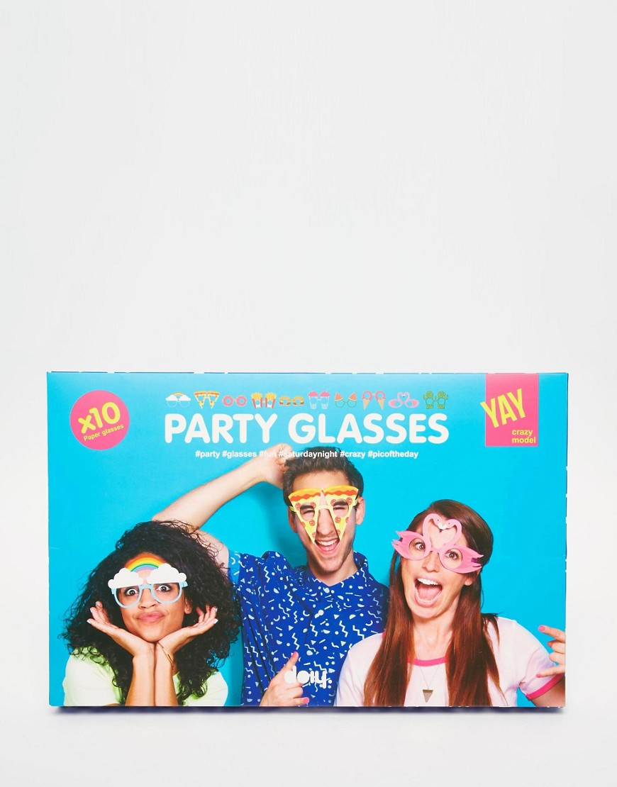 Image 1 of Doiy Crazy Paper Party Glasses - Pack of 10