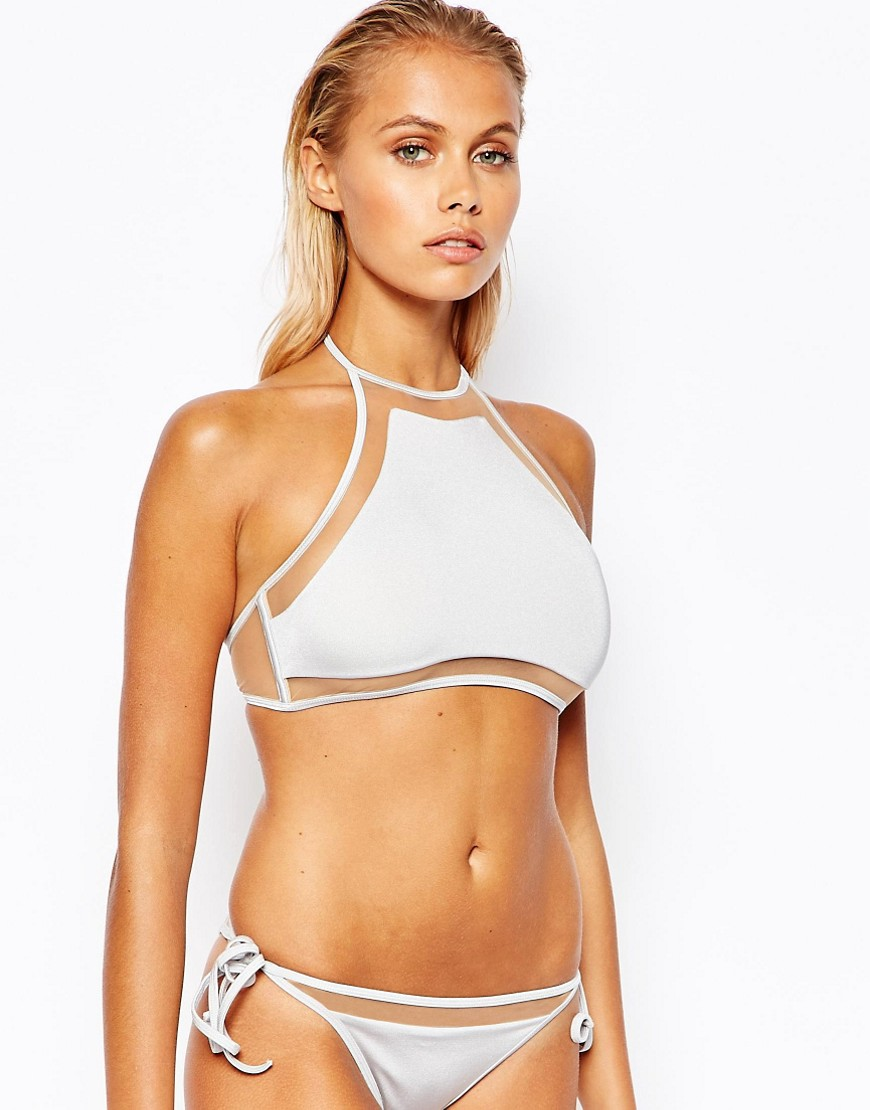 Image 1 - ASOS - Mix and Match - Top de bikini court coupe dos nu avec insert en tulle