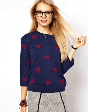 Image 1 of ASOS Jumper With Embroidered Boats