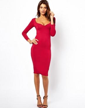 Image 1 ofASOS Sweetheart Bodycon Midi Dress