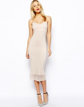 Image 4 of ASOS Midi Cami Dress with Mesh Insert