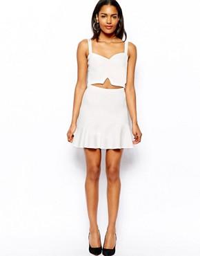 River Island Fluted Hem Mini Skirt