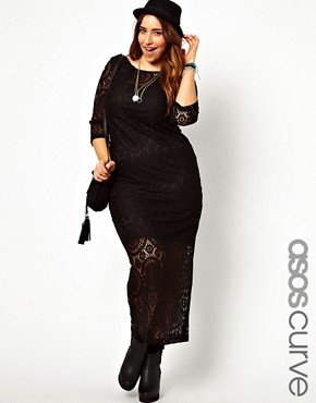 Image 1 of ASOS CURVE Exclusive Maxi Dress In Crochet Lace
