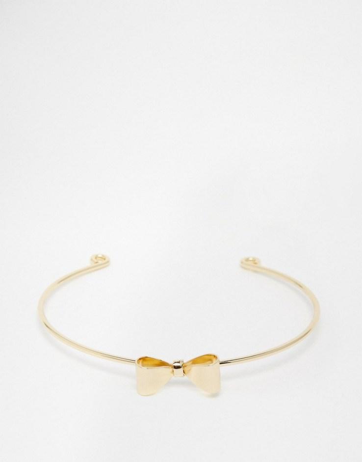 ASOS Pretty Bow Cuff Bracelet