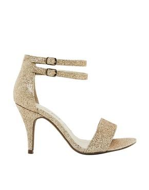 Image 1 - New Look - Splat 2 - Sandales coupe large à talon et semelle simple - Doré