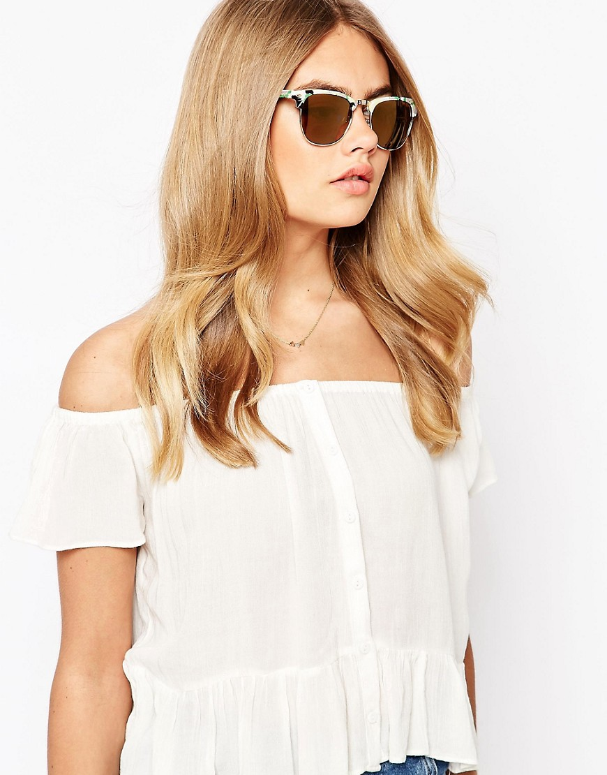 Image 3 of River Island Cindy Clubmaster Sunglasses