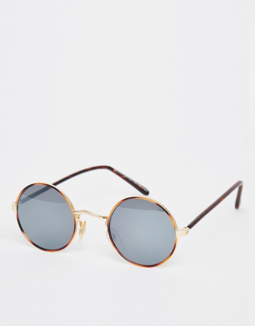Image 1 ofHindsight Vintage Round Metal Sunglasses