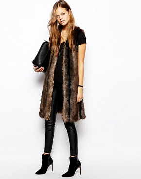 Image 4 of Unreal Fur Longer Length Gilet
