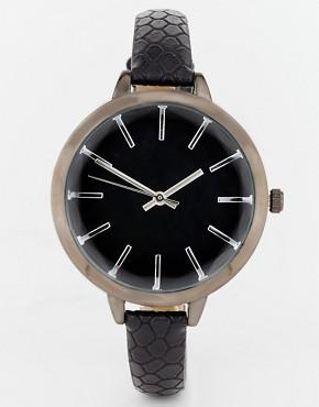 Image 1 ofASOS Large Face Slim Strap Watch