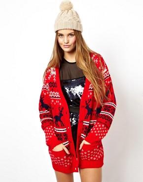 ASOS - Cardigan de Noël motif rennes