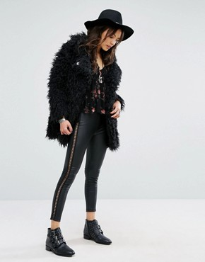 pantalon lacets simili asos