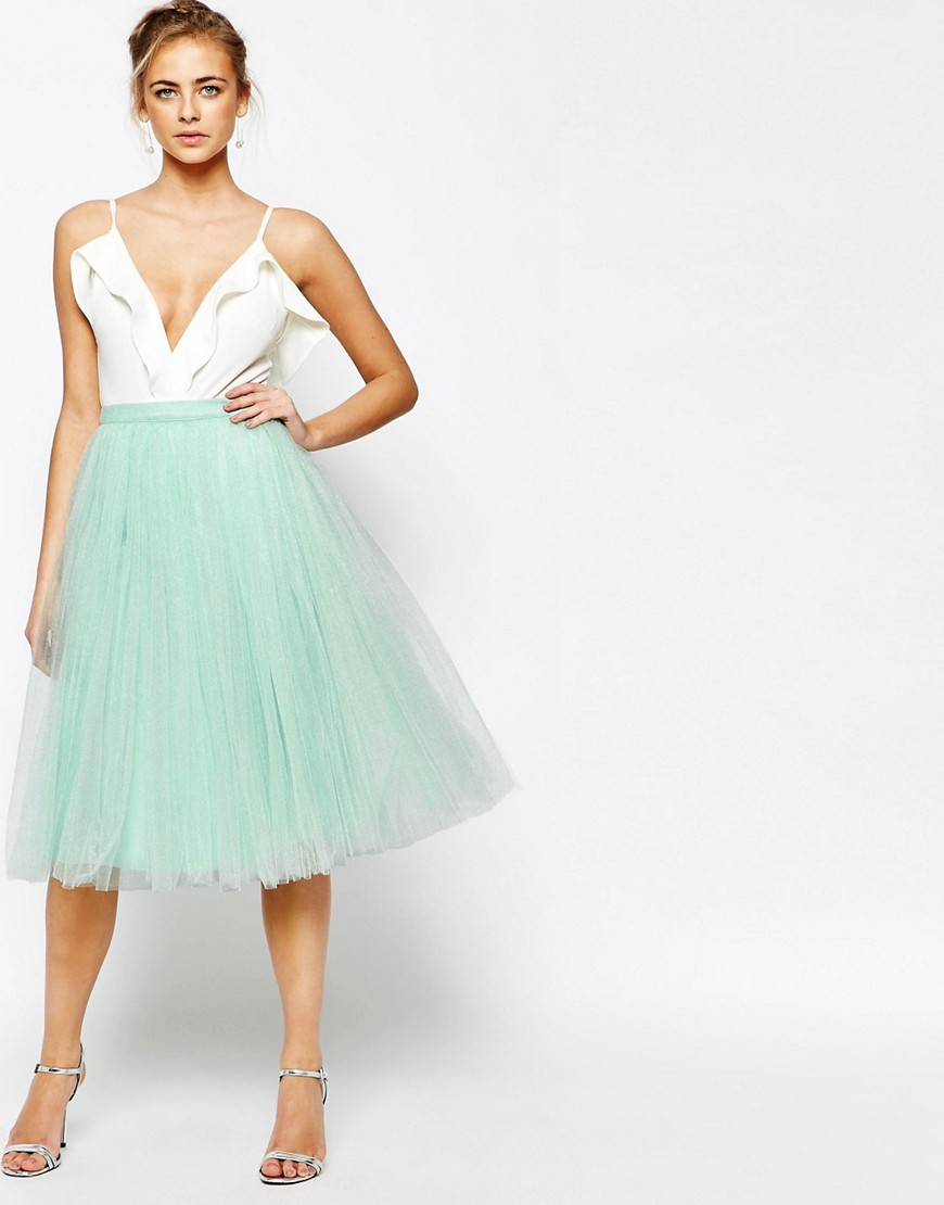 Image 1 ofLittle Mistress Midi Tulle Skirt