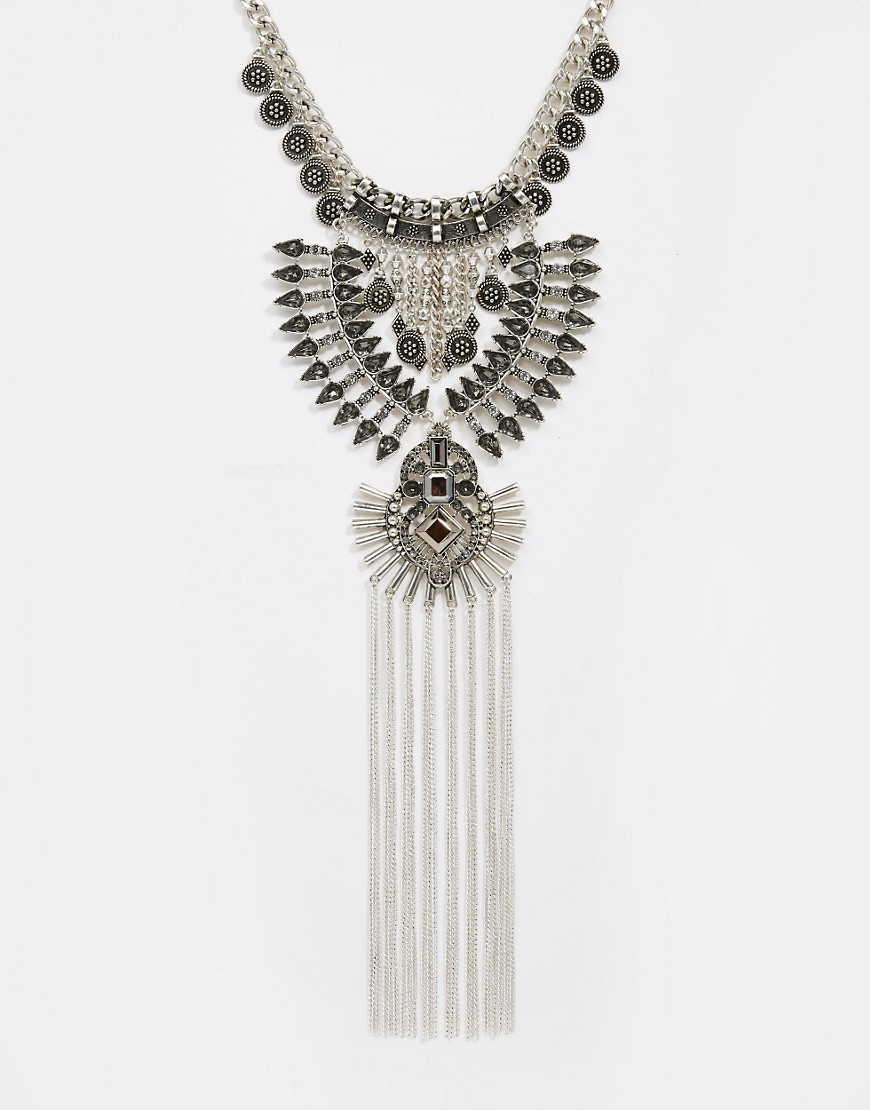 Image 1 ofRiver Island Statement Necklace with Tassles