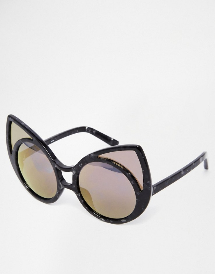 Linda Farrow Pointy Cat Eye Sunglasses