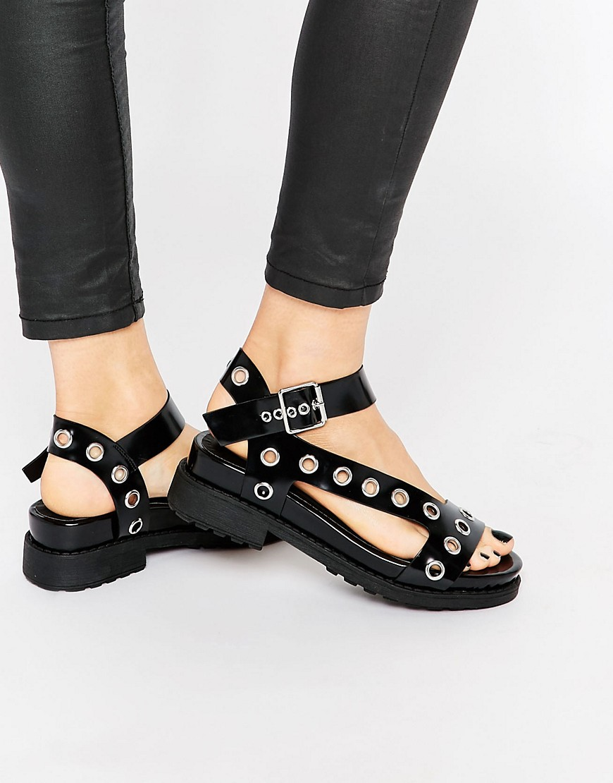 Image 1 of ASOS FOREFRONT Chunky Flat Sandals