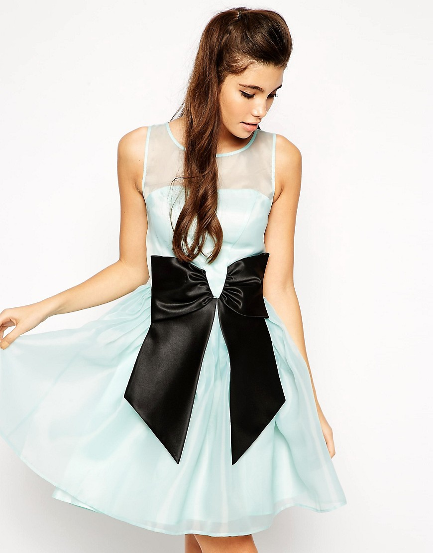 Image 1 of ASOS Skater Dress with Bow
