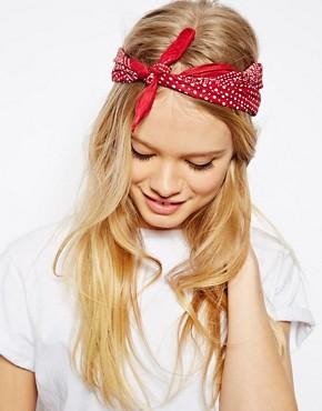 Image 1 ofASOS Polka Dot Headscarf Neckerchief