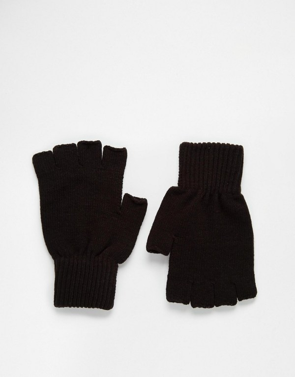 ASOS Fingerless Gloves In Black