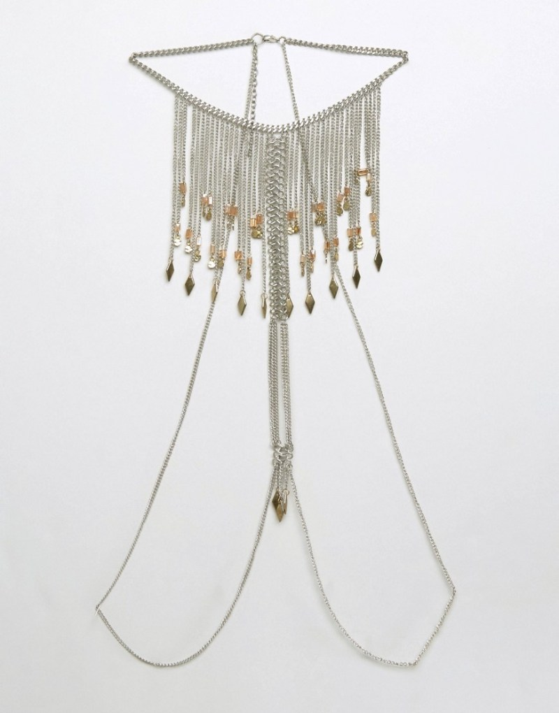 Image 3 of ASOS Festival Front & Back Tassel Body Chain