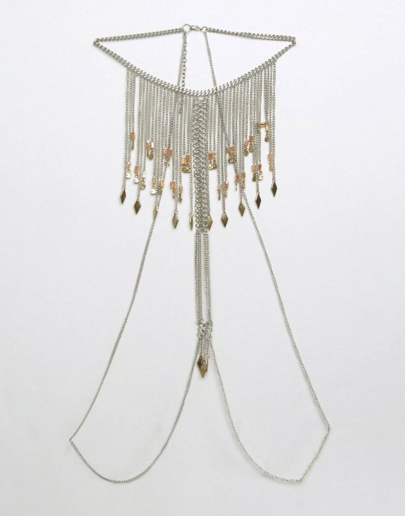 Image 3 ofASOS Festival Front & Back Tassel Body Chain