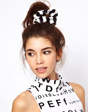 Image 1 of ASOS Monochrome Scrunchie
