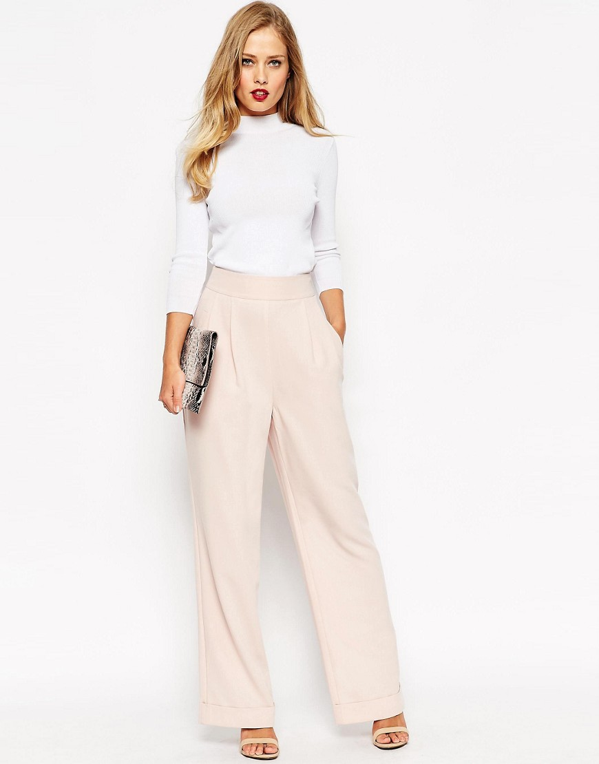Image 1 of ASOS Structured Wide Leg Trouser