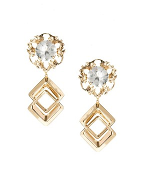 Image 1 of ASOS Mega Metal Earrings