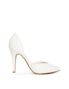 New Look Say Two Part White Court Shoes