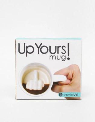 Up Yours funny rude antisocial Mug Unique And Quirky Gift Ideas Any Odd Person Will Appreciate (Fun Gifts!)