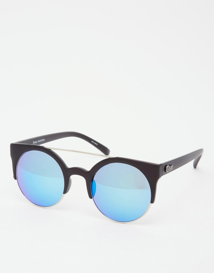 Quay Australia Livnow Round Mirror Sunglasses