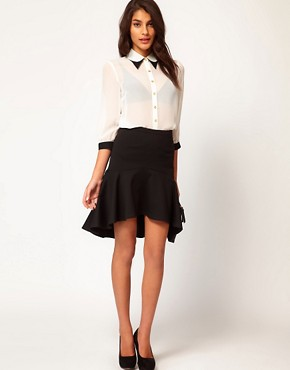 Image 1 of ASOS Pencil Skirt With Dip Hem