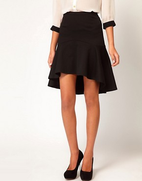 Image 4 of ASOS Pencil Skirt With Dip Hem