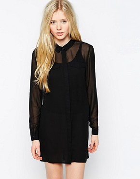 Image 1 of Vero Moda Long Sleeve Shirt Dress