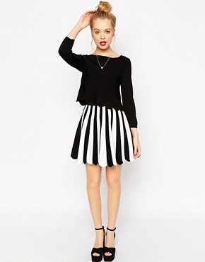 Image 4 ofASOS Co-ord Top With Off Shoulder In Structured Knit