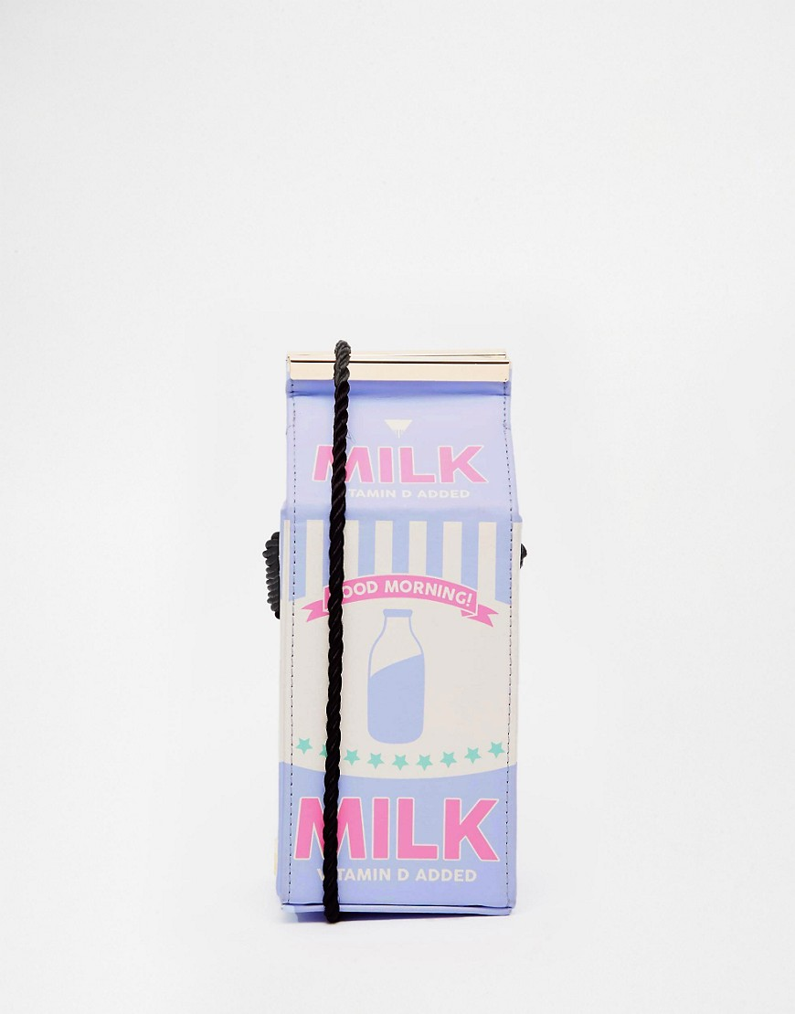 Image 1 ofSkinnydip Milk Across Body Bag Unique And Quirky Gift Ideas Any Odd Person Will Appreciate (Fun Gifts!)