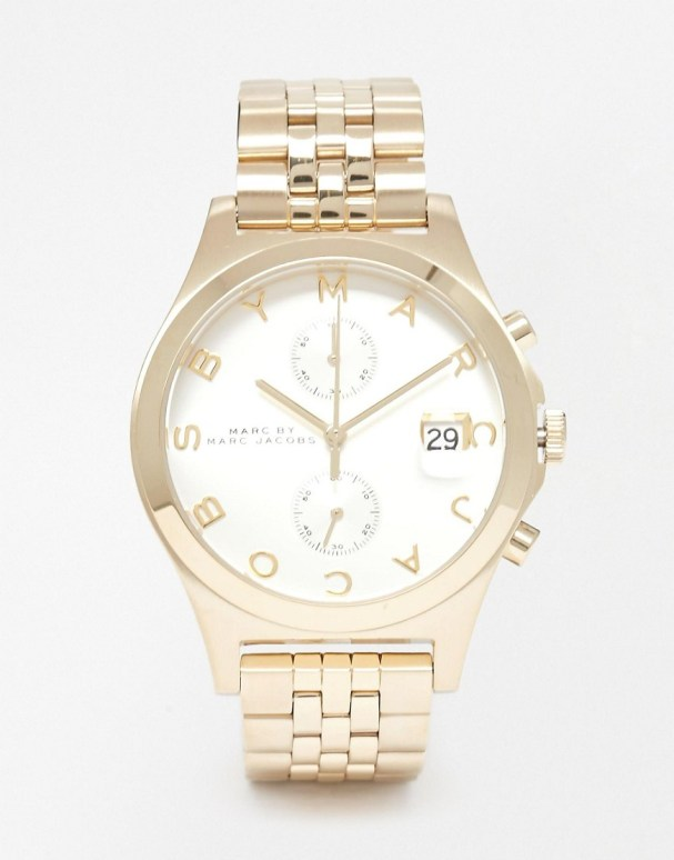 Image 1 ofMarc By Marc Jacobs Slim Chronograph Watch MBM3379