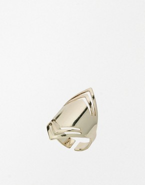 Image 1 of Warehouse Cut Out Statement Shield Ring
