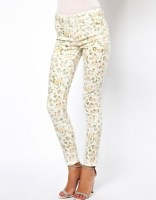 Image 1 of Oasis Washed Floral Print Jean