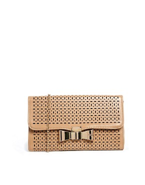 Liquorish Laser Cut Clutch Bag