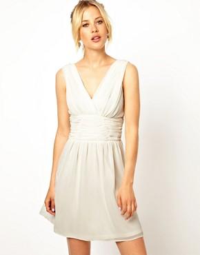 Image 1 ofASOS Ruched Sleeveless Skater Dress