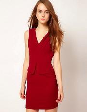 A Wear Peplum Pencil Dress