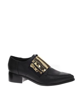 Image 1 of ASOS MALCOLM Pointed Flat Shoes